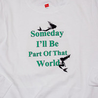 Mermaid Sweatshirt. Part Of That World. Customize To Size And Color.
