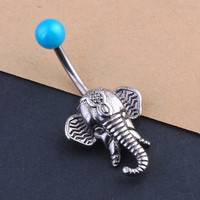 Elephant Belly Button Ring