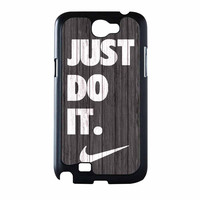 Nike Just Do It Wood Colored Darkwood Wooden Samsung Galaxy Note 2 Case