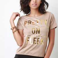 Pretty On Fleek Vegan Suede Slashed Back High Low Tee