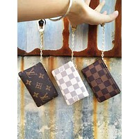 LV Louis Vuitton Fashion Leather Key Pouch