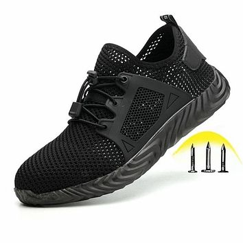 Indestructible Ryder Shoes Men and Women Steel Toe Cap Work Safety Shoes Puncture-Proof Boots Lightweight Breathable Sneakers