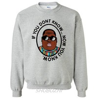 biggie smalls sweatshirt men B.I.G. hip hop brand hoodie cotton luxury brand drop shipping euro size