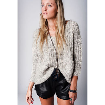 Gray Chunky Knit Sweater