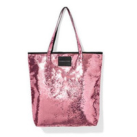 Victoria's Secret Pink Sequin Beauty Tote Bag