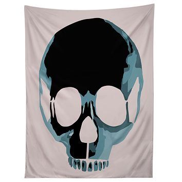 Amy Smith Blue Skull 1 Tapestry