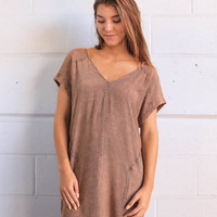 Rollin With The Stones Dress - Mocha
