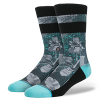Stance - Grayscale Floral - Blue