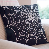 Spider Web Pillow Cover Creepy Chic Arachnophobia Spiderweb Halloween Decor Creepy Chic 18 x 18