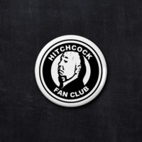 Alfred Hitchcock fan club button