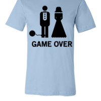 Wedding. Game Over Ball and Chain - Unisex T-shirt