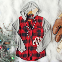 Snowy Creek Plaid Shirt in Red