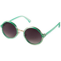 90's Metal Insert Round Sunglasses - Festival Shop  - Collections