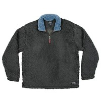 Appalachian Pile Pullover 1/4 Zip in Midnight Grey by Southern Marsh