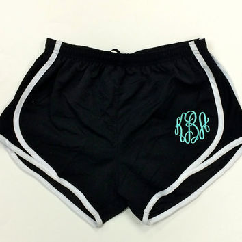 running shorts for girls monogrammed