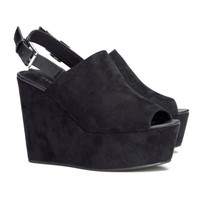 Platform Shoes with Wedge Heel - from H&M