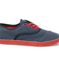 Blue Rugged Canvas Youth Cordones | TOMS.com