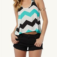 Chevron Crochet Chain Tank