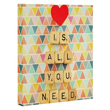 Happee Monkee Love Is All You Need Art Canvas