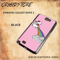 HELLO KITTY UNICORN Snap on 2D Black and White Or 3D Suitable With Image For Samsung Galaxy Note 2 Case