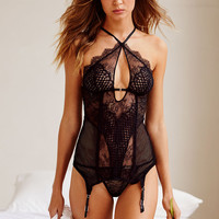 Limited Edition Fishnet & Lace Garter Slip - Very Sexy - Victoria's Secret