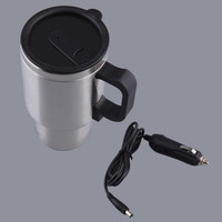 Car heating cup auto 12v heating cup Electric Kettle Cars Thermal Heater Cups Boiling Water bottel auto accessories 500ML+Cable#