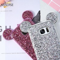 3D Silicone Mickey Mouse Cover Samsung Galaxy S8 S8 Plus S7 S7 Edge S6 S6 Edge Cases 3D