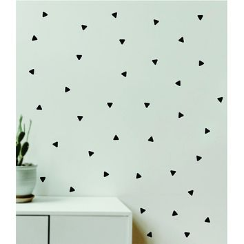 Triangles Pattern Set of 240 Wall Decal Home Decor Bedroom Room Quote Vinyl Sticker Teen School Baby Kids Nursery Playroom Boy Girl Love Cute