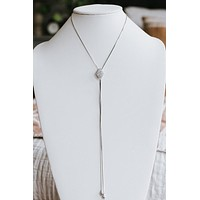 Long Diamond Lariat Necklace