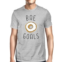 Bae Goals Men's Grey T-shirt Simple Typography Funny Gifts For Him