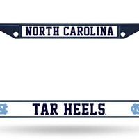UNC North Carolina Tar Heels NCAA Chrome Blue Metal License Plate Frame