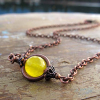 Sunny Yellow Necklace