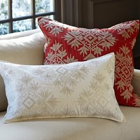 Crosstitch Snowflake Pillow Cover
