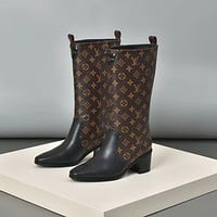 LV Louis Vuitton Women's Leather Boots Shoes