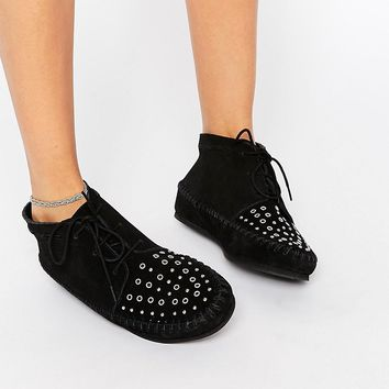 ASOS ALBERTA Suede Studded Ankle Boots