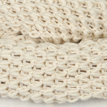 Cream Chunky Hand Knitted Snood