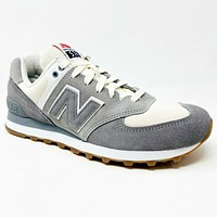 New Balance 574 Retro Sport Suede Gray ML574RSA Mens Sneakers Size 8.5