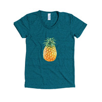 Freshly Picked  Pineapple Short Sleeve Top Tee Womens Summer Beach Style Fashion Boho Chic You Choose Color by Wave of Life™