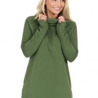 As I Am Tunic in Green   Monday Dress Boutique