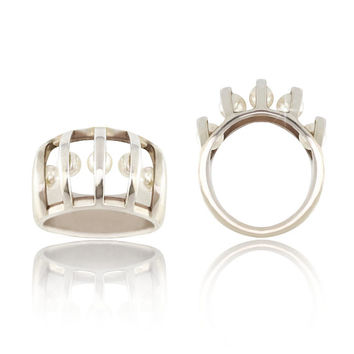 Pearl Cage Ring