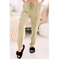 Glow Bright Cargo Joggers (Light Olive)