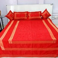 Sequins Embroidery Silk Double Bedspread Pillow Covers Cushion Cover