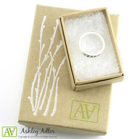 Personalized Mother's Ring - Argentium Sterling Silver