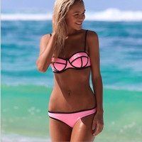 Solid ball style swimsuit sexy lady swimsuit