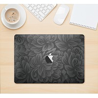 """The Black & Gray Dark Lace Floral Skin Kit for the 12"""" Apple MacBook"""