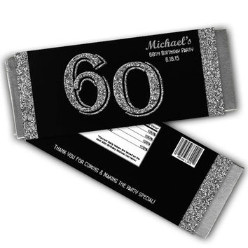 Milestone Adult Party Favors - Silver Adult Birthday Party Favor - Silver Glitter Adult Favors - 30th 40th 50th 60th 70th 80th 90th party