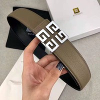 GIVENCHY Trending Woman Men Smooth Buckle Belt Leather Belt
