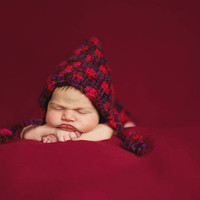 Little Red Pixie Bonnet and Diaper Cover Baby Shower