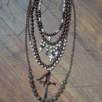 The Rebel Rosary - 5 Piece Necklace Set