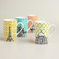 Global Icon Mugs, Set of 4